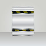 Brochure card banner metal Royalty Free Stock Images