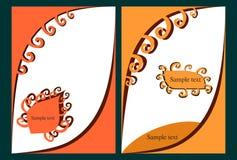 Brochure colorée illustration stock