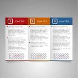 Brochure colored modern design element Stock Image