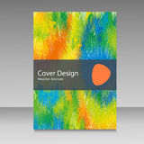 Brochure in colors of Brazil flag. Vector color concept. Design for cover, book, website background Stock Image