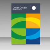 Brochure in colors of Brazil flag. Vector color concept. Design for cover, book, website background Stock Photos