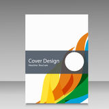 Brochure in colors of Brazil flag. Vector color concept. Design for cover, book, website background Royalty Free Stock Image