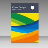 Brochure in colors of Brazil flag. Vector color concept. Design for cover, book, website background Stock Photo