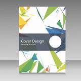Brochure in colors of Brazil flag. Vector color concept. Design for cover, book, website background Royalty Free Stock Photo