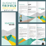 Brochure. Corporate business brochure in flat style Royalty Free Stock Images