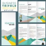 Brochure. Corporate business brochure in flat style Vector Illustration