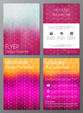 Brochure cover desgn template Royalty Free Stock Photography
