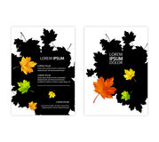 A4 brochure cover design. autumn style, stylized maple leaves Royalty Free Stock Image