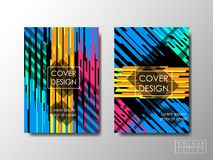 Brochure cover design booklet background, business document layout, vivid colors Stock Photos