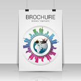 Brochure cover design. Flyer, poster, booklet template. Vector Stock Image