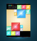 Brochure cover design rectangles Templates. Stock Images