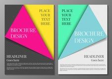Brochure cover design template vector illustration