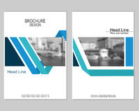 Brochure cover design. Vector brochure cover templates with blurred cityscape. Business brochure cover design. EPS 10. Mesh background Royalty Free Stock Photo
