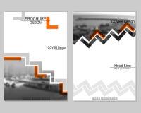 Brochure cover design royalty free illustration