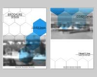 Brochure cover design stock illustration