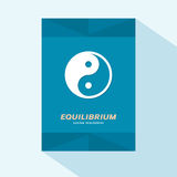 Brochure cover flat design with Yin Yang symbol Royalty Free Stock Photo