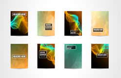 A4 Brochure Cover Mininal Design with Geometric shapes, colorful gradients and space for text, header, footer and titles. Futurist. Ic Page Template vector illustration