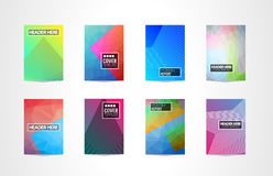 A4 Brochure Cover Mininal Design with Geometric shapes, colorful gradients and space for text, header, footer and titles. Futurist. Ic Page Template royalty free illustration
