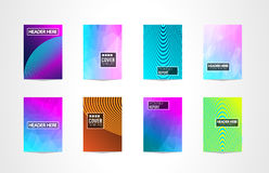 A4 Brochure Cover Mininal Design with Geometric shapes, colorful gradients. And space for text, header, footer and titles. Futuristic Page Template vector illustration