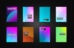 A4 Brochure Cover Mininal Design with Geometric shapes, colorful. Gradients and space for text, header, footer and titles. Futuristic Page Template royalty free illustration