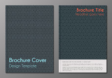 Brochure cover minnimalistic design templates Royalty Free Stock Images