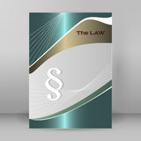 Brochure cover page legal report luster metal arrow Stock Photo