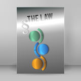 Brochure cover page legal report luster metal arrow02 Stock Photos