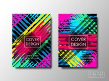Brochure cover special design booklet background, business document layout, vivid colors Stock Photography