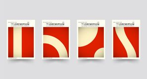Brochure cover template set Royalty Free Stock Image