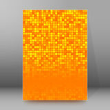 Brochure cover template vertical format glowing background57. Abstract background advertising brochure design elements. Glowing light mosaic graphic form for Royalty Free Stock Photos