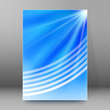 Brochure cover template vertical format glowing background Royalty Free Stock Photos