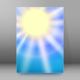 Brochure cover template vertical format glowing background Stock Image
