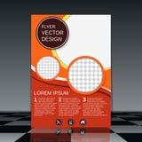 Brochure cover vector design Stock Photos