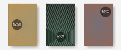 Brochure covers, posters, banners vector templates. Technological formers. Halftone lines annual report templates. Minimalist geometry. Geometric graphic vector illustration