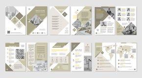 Brochure creatief ontwerp Multifunctioneel malplaatje met dekking, rug en binnenkantpagina's Verticaal a4 formaat royalty-vrije illustratie