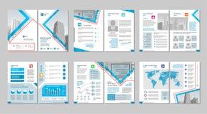 Brochure creatief ontwerp Multifunctioneel malplaatje met dekking, rug en binnenkantpagina's Verticaal a4 formaat stock illustratie