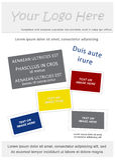 Brochure d'affaires Photos stock