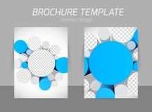 Brochure with 3d circles Royalty Free Stock Images