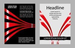Brochure d'illustration de calibre de conception d'insecte de vecteur Images stock