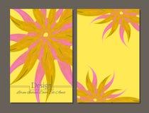 Brochure de beauté couleurs jaunes et roses Illustration de Vecteur
