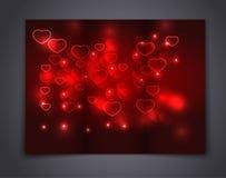 Brochure de calibre de Valentine Abstract pour la conception Photo stock