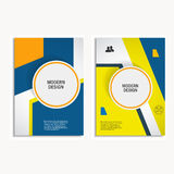 Brochure de conception de couverture de conception de vecteur dans la taille A4 Image libre de droits