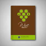Brochure de couverture de calibre de conception de menu de vin, carte Images stock