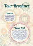 Brochure de cru de vecteur avec les cercles pointillés Images libres de droits