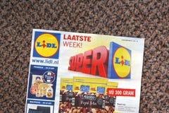 Brochure de Lidl photo libre de droits