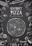Brochure de restaurant de menu de café Calibre de conception de nourriture Photos stock