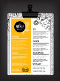 Brochure de restaurant de menu de café Calibre de conception de nourriture Photo stock