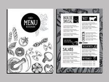 Brochure de restaurant de menu de café Calibre de conception de nourriture Photographie stock