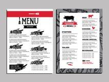 Brochure de restaurant de menu de café Calibre de conception de nourriture Images stock