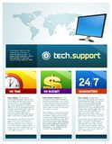Brochure de support de technologie images stock